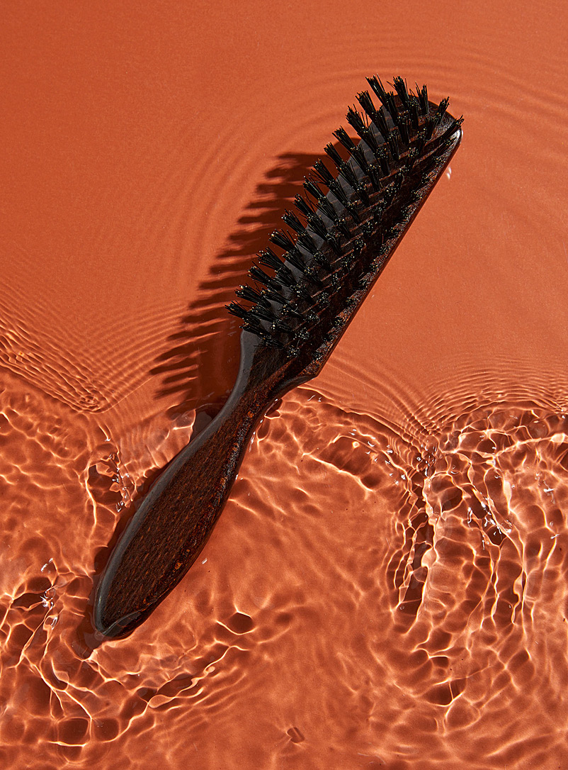 Rituels Dark Brown Beard and hair brush in wild boar hair for men