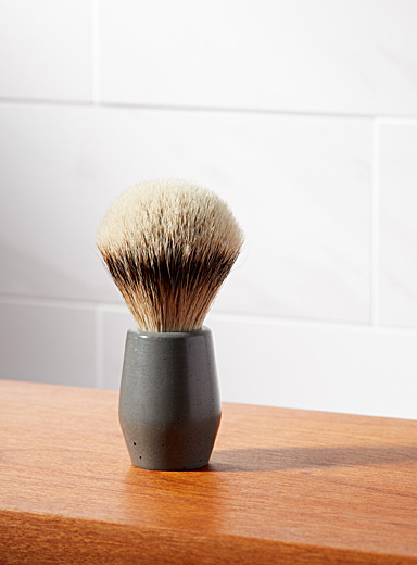 Concrete shaving brush