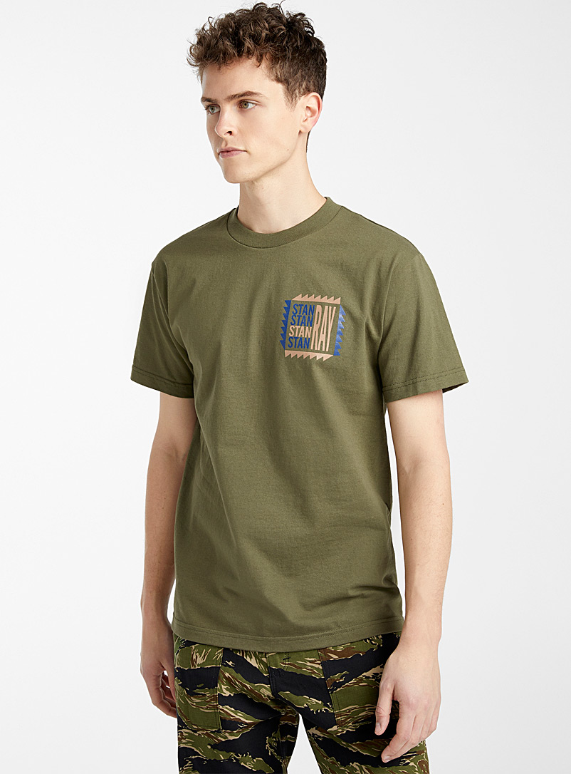 Stan Ray Mossy Green Sawtooth logo T-shirt for men