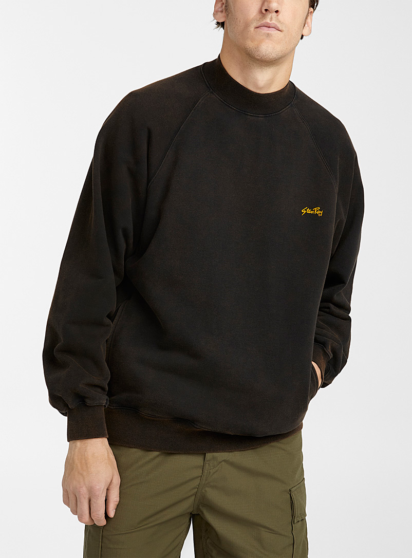 Mock-neck workwear sweatshirt