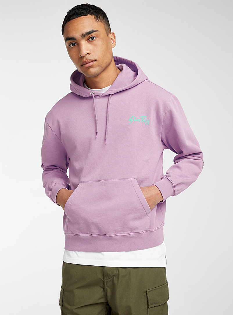 Stan Ray Lilacs Lavender retro logo hoodie for men