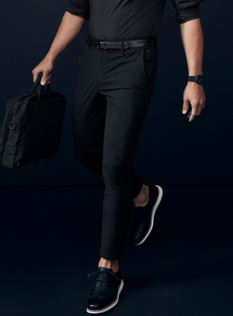 Le 31 Black Techno pant  Stockholm fit-Slim for men