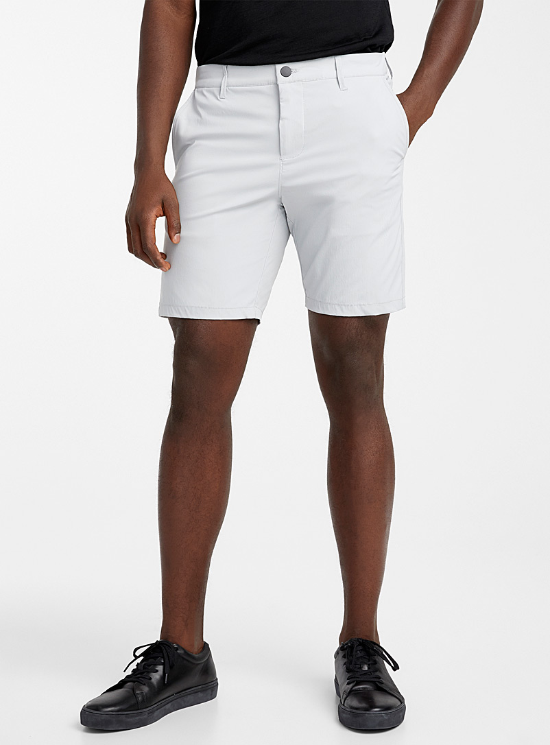 Le 31 Grey Stretch techno short for men