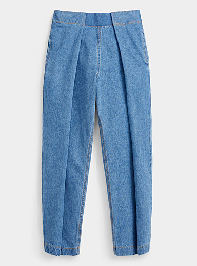 Mega-pleat mom jean