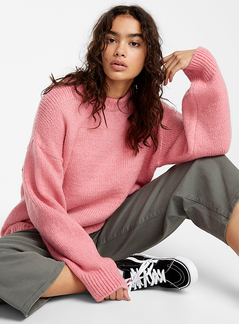 Le pull ultra-ample alpaga - Pulls - Rose