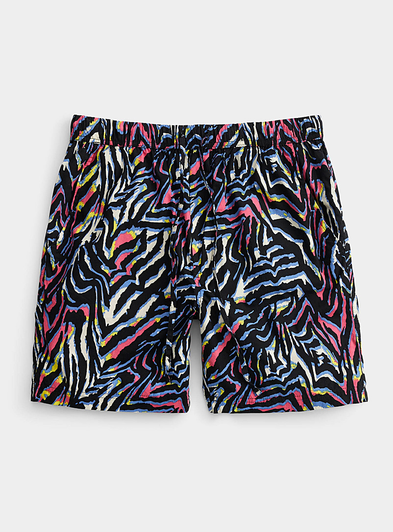 Super Massive Black Electro zebra pull-on short for men