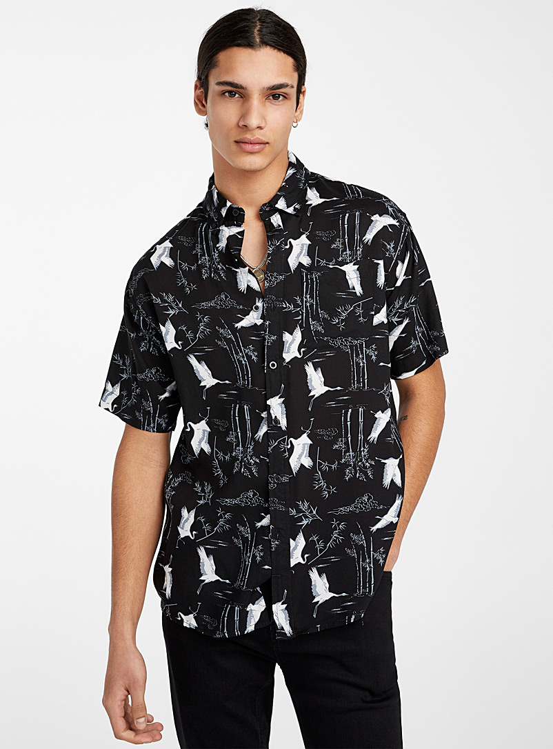 Super Massive Black Heron tapestry shirt for men