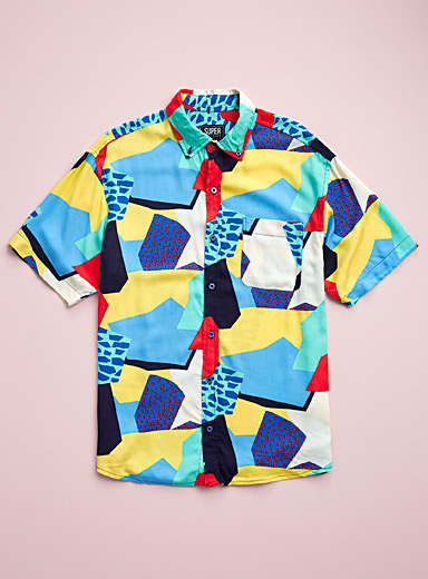 Super Massive Blue Pop tortoise shirt for men