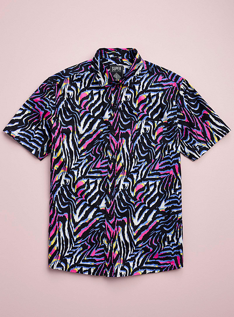 Super Massive Black Electro zebra shirt for men