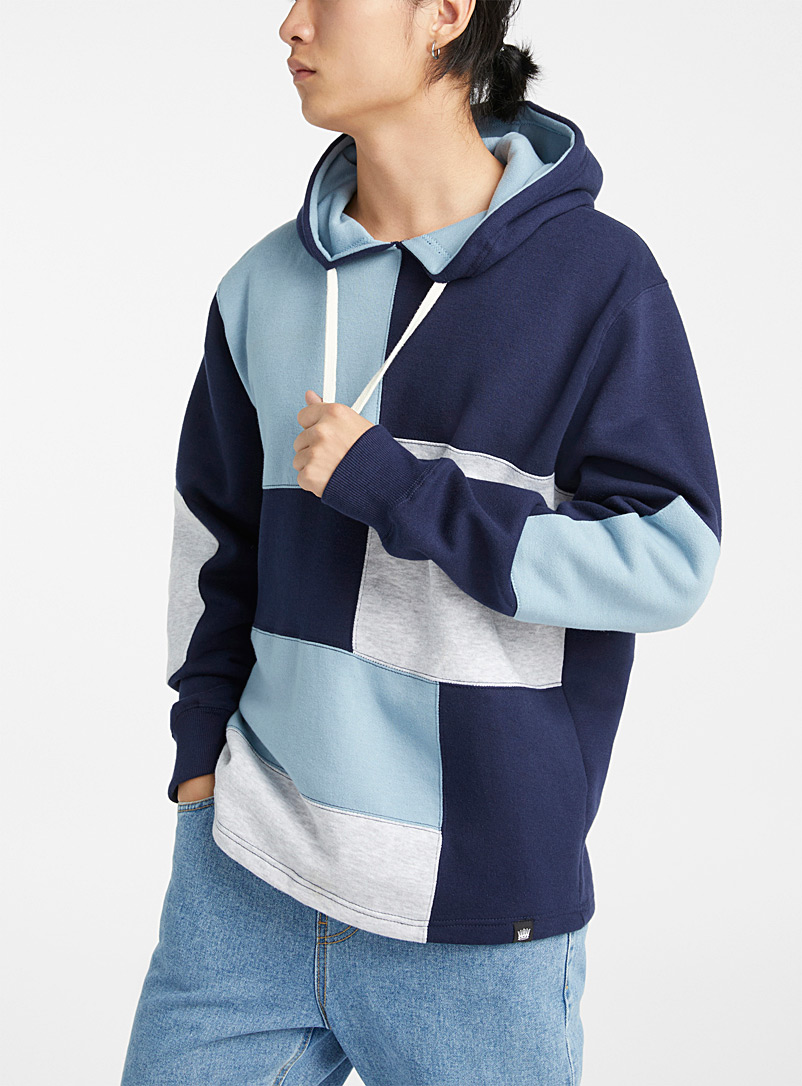 Multi-block hooded sweatshirt