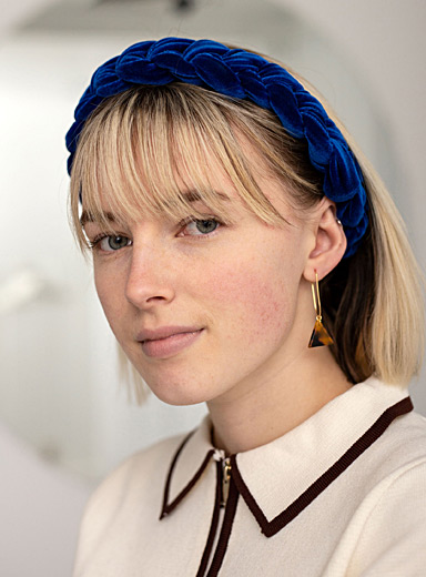The velvet braided headband