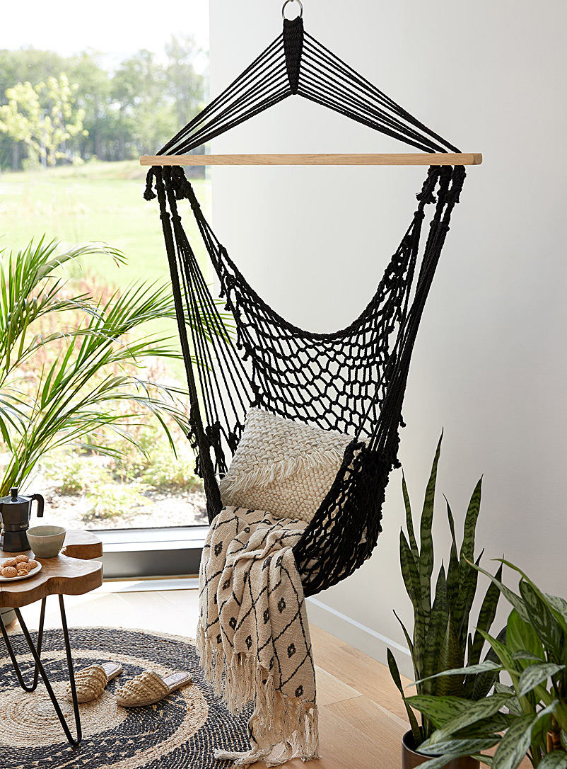Simons Maison Black Crocheted polyester hanging chair