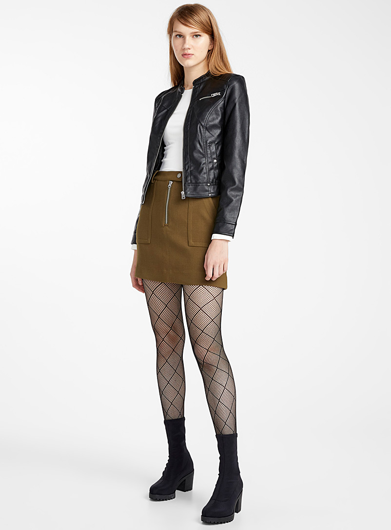 Monochrome and check tights  Set of 2 - Tights - Black