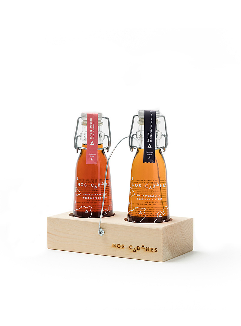 Nos Cabanes Amber Bronze Small maple syrup tasting set