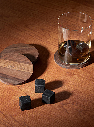 Lithologie Black Dark granulite large whiskey tasting set