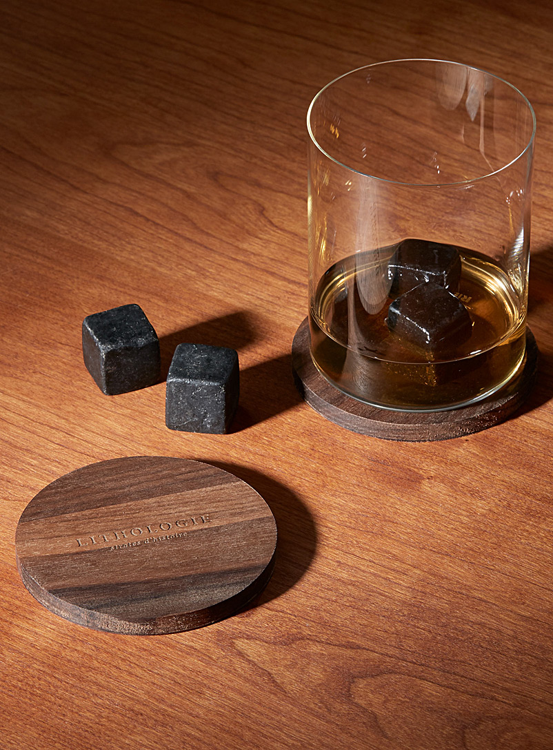 Lithologie Black Dark granulite small whiskey tasting set