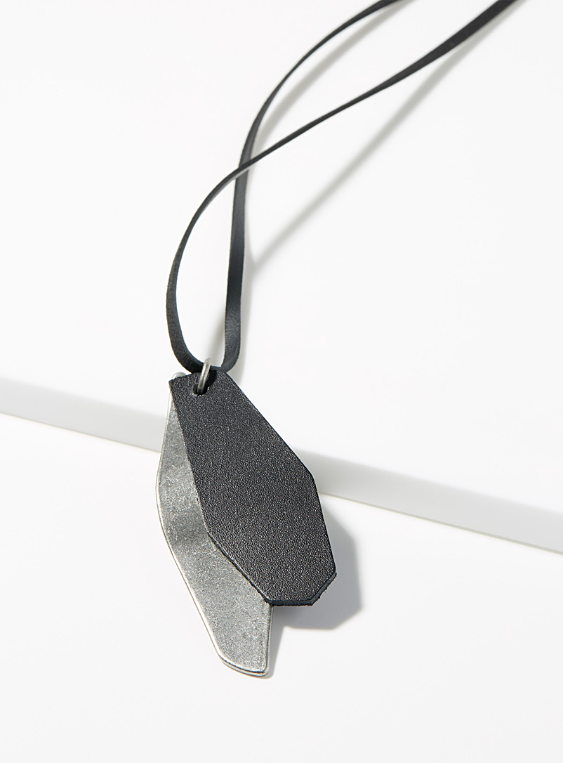 Geo pendant necklace - Necklaces - Black