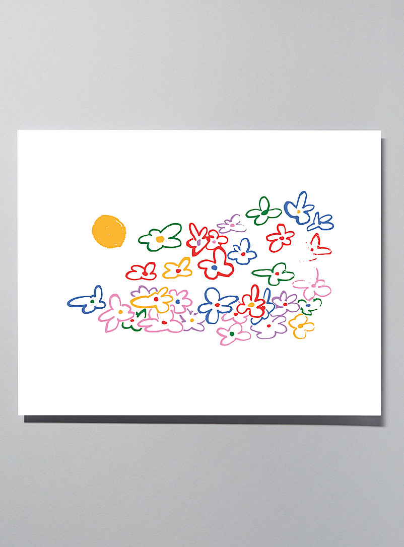 Flowers small poster - Wall Decor