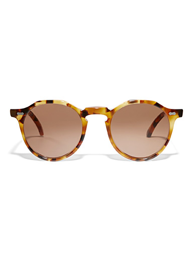 Lapel round sunglasses