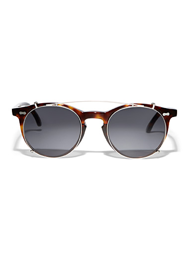 Pleat tortoiseshell sunglasses