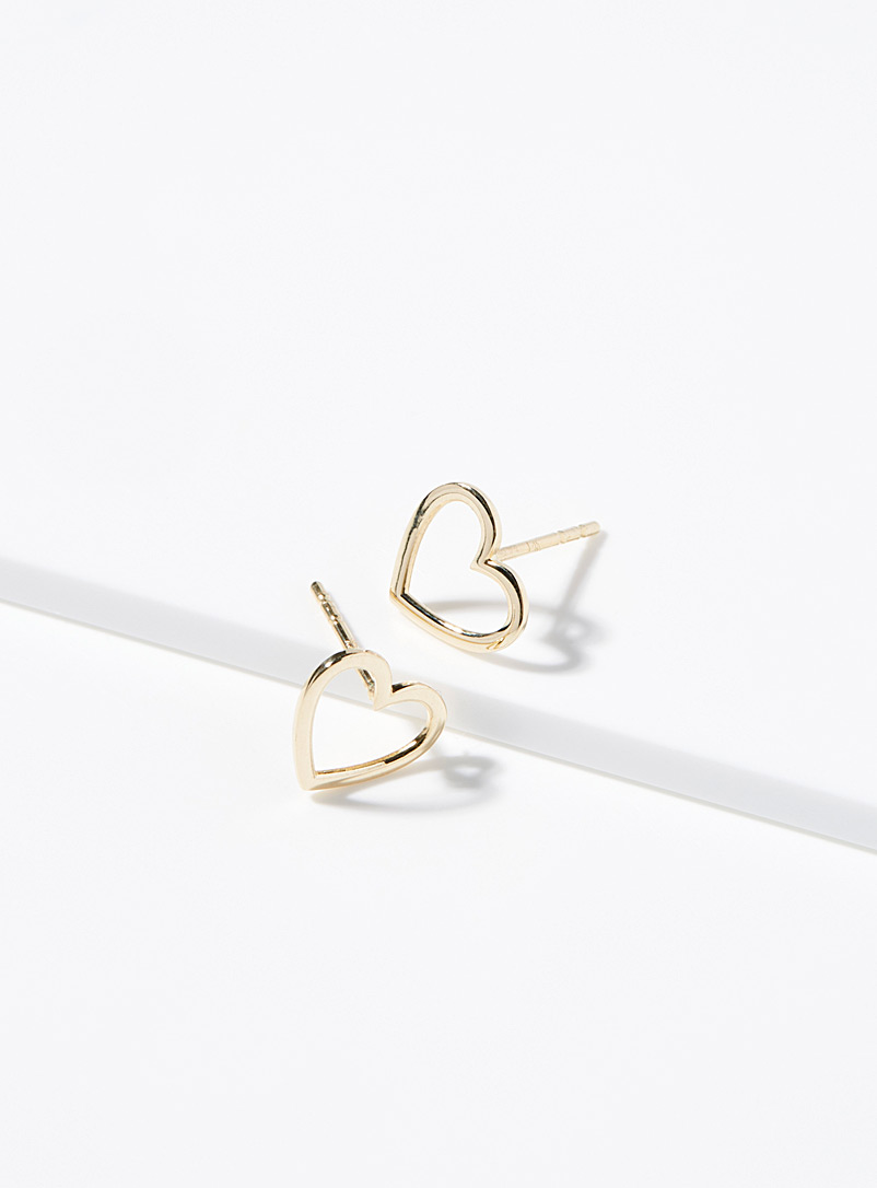 Openwork heart earrings