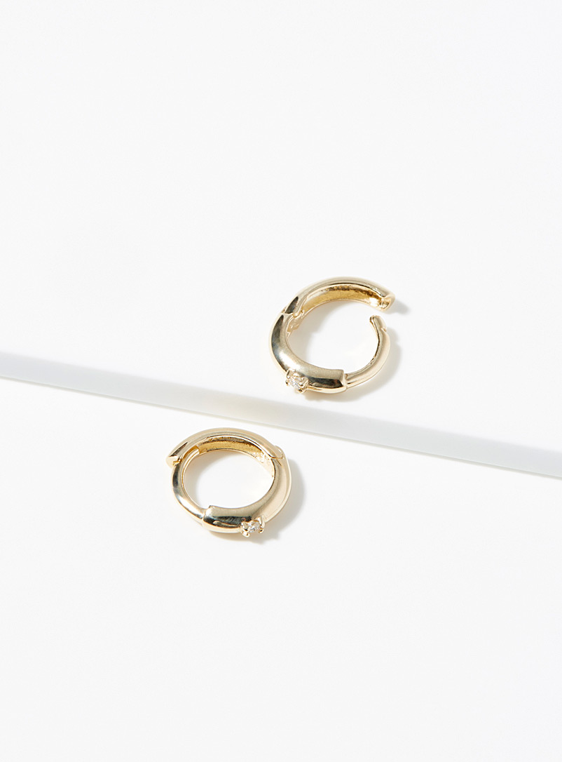 Hestia Gold Gold and diamond hoops for women