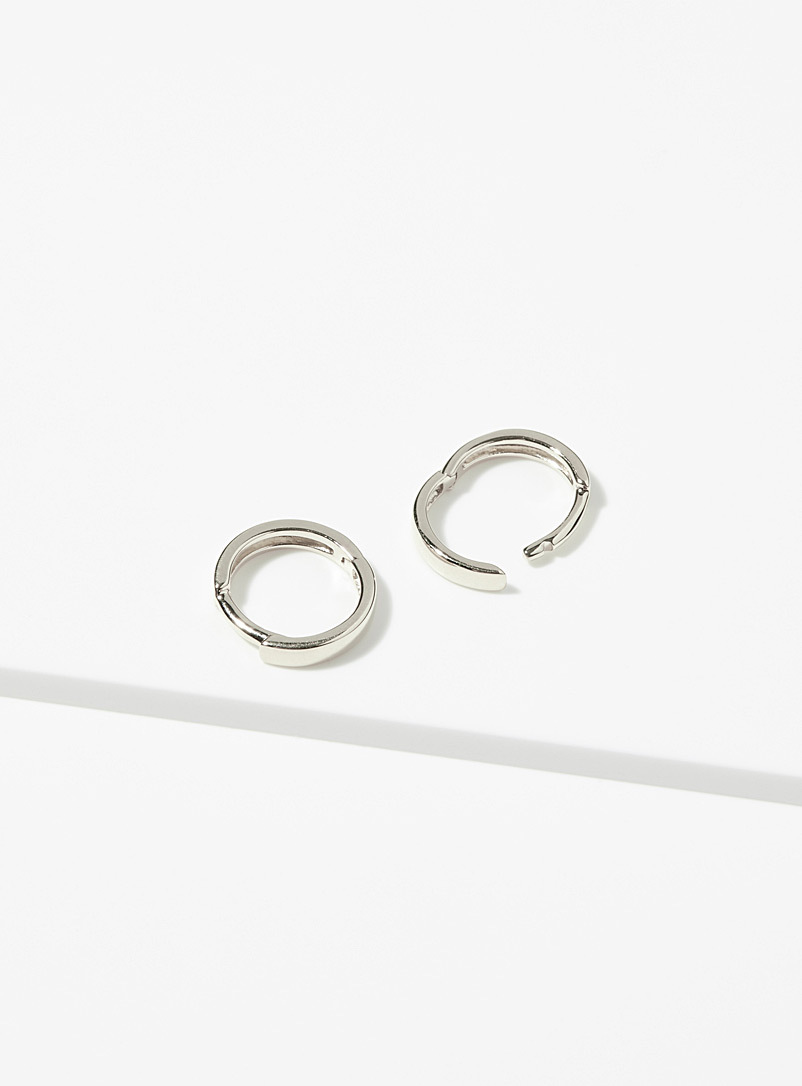 Hestia Silver Essential hoops for women