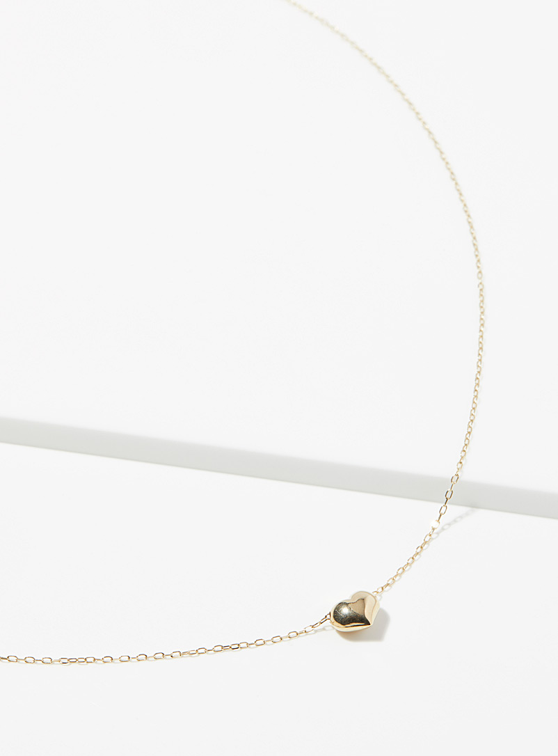 Hestia Gold Mini-heart necklace for women