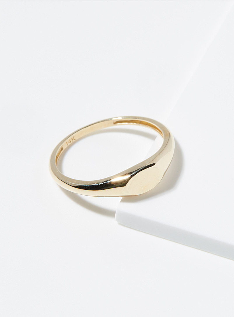 Hestia Gold Twisted ring for women