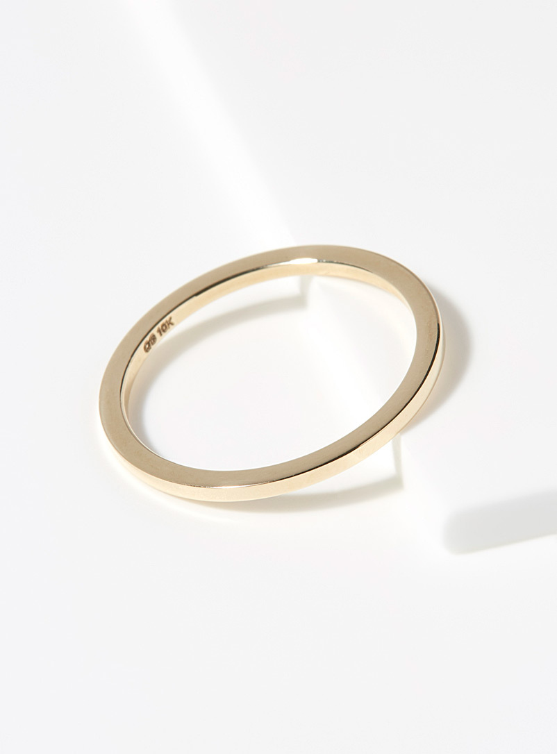 Gold minimalist ring - Designer Jewellery - Assorted