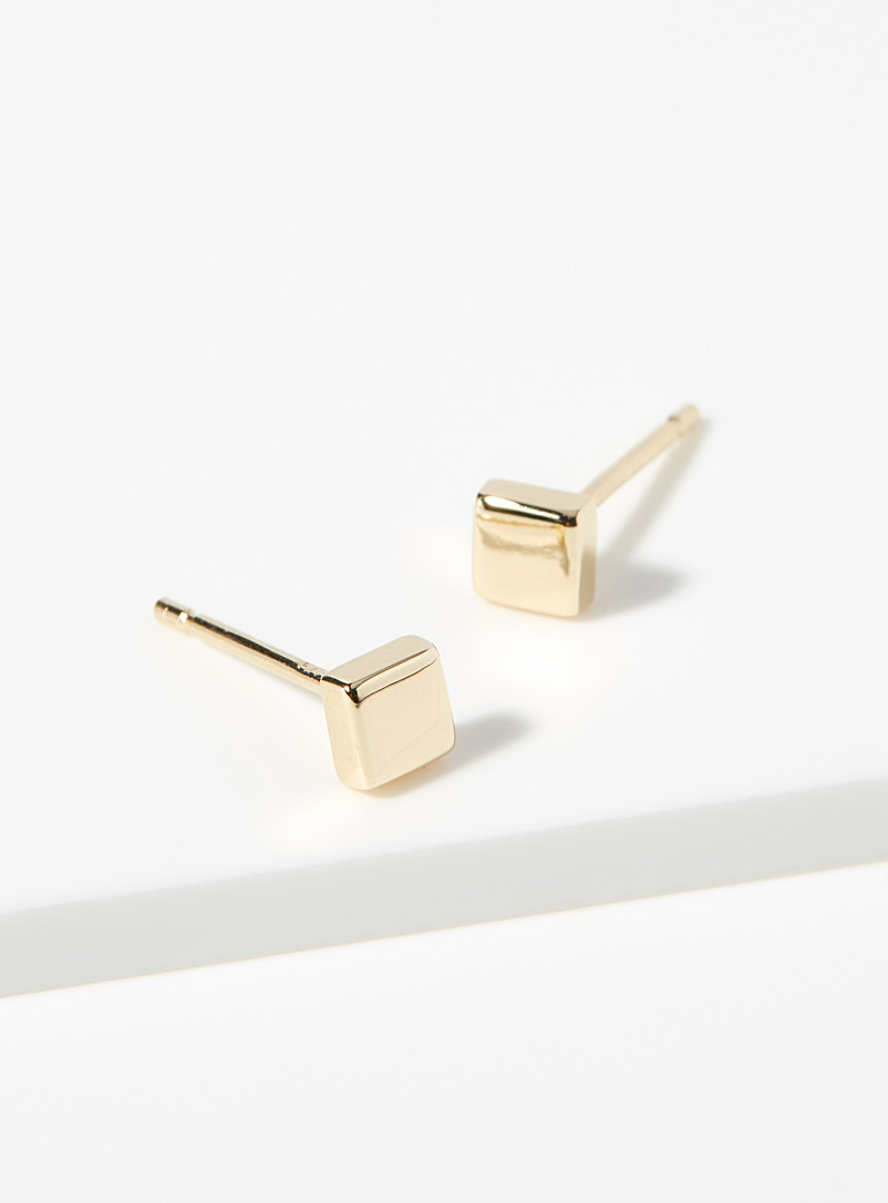 Golden square earrings - Designer Jewellery - Assorted