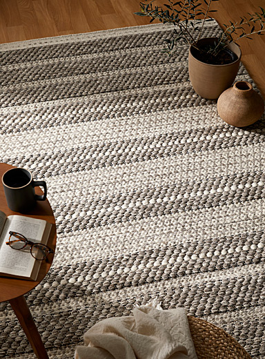 Heather grey wool rug