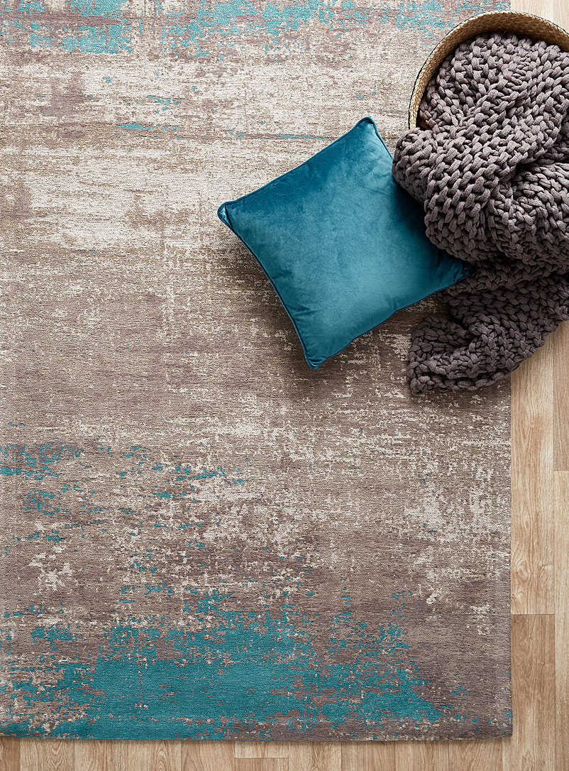 Turquoise touch rug - Area Rugs - Teal