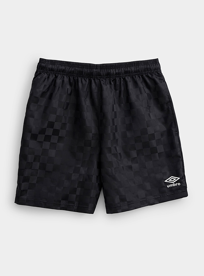 Umbro Black Check nylon short for men