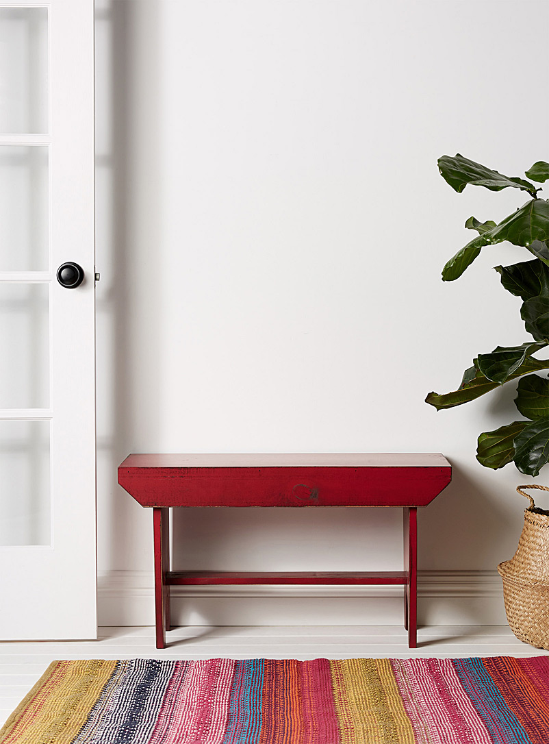 Springwater Woodcraft Red Bucket vintage red bench