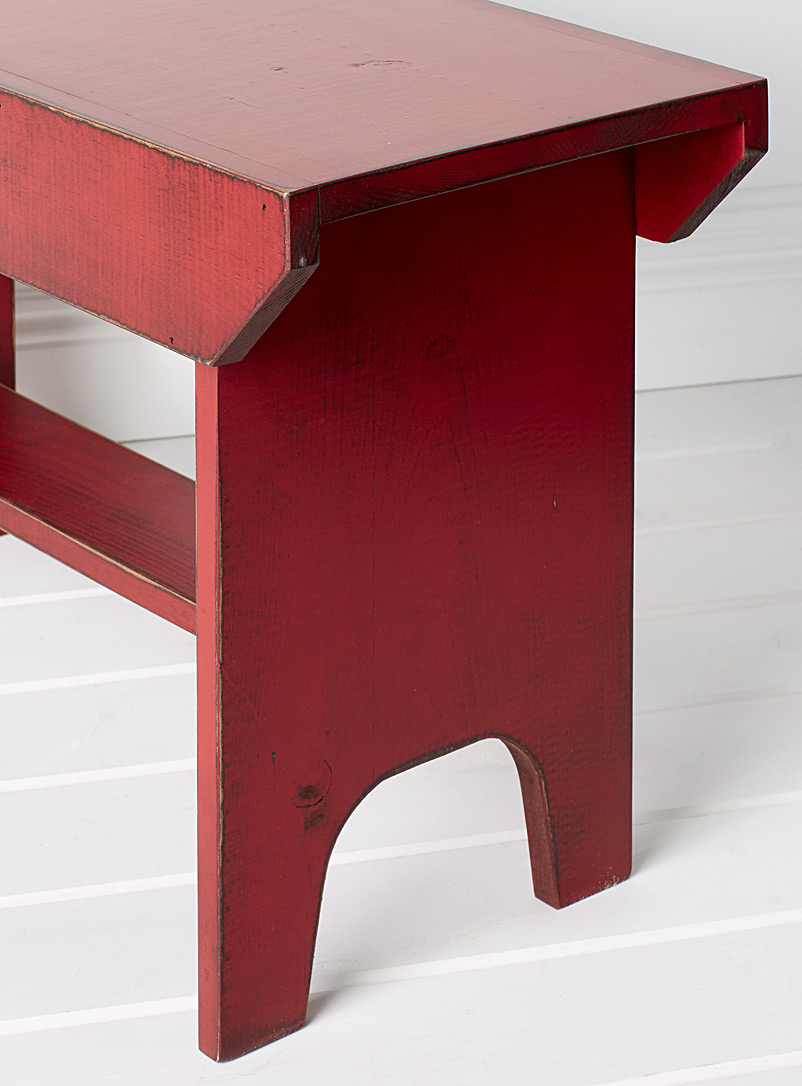 Bucket vintage red bench - Chairs, Stools & Benches - Red