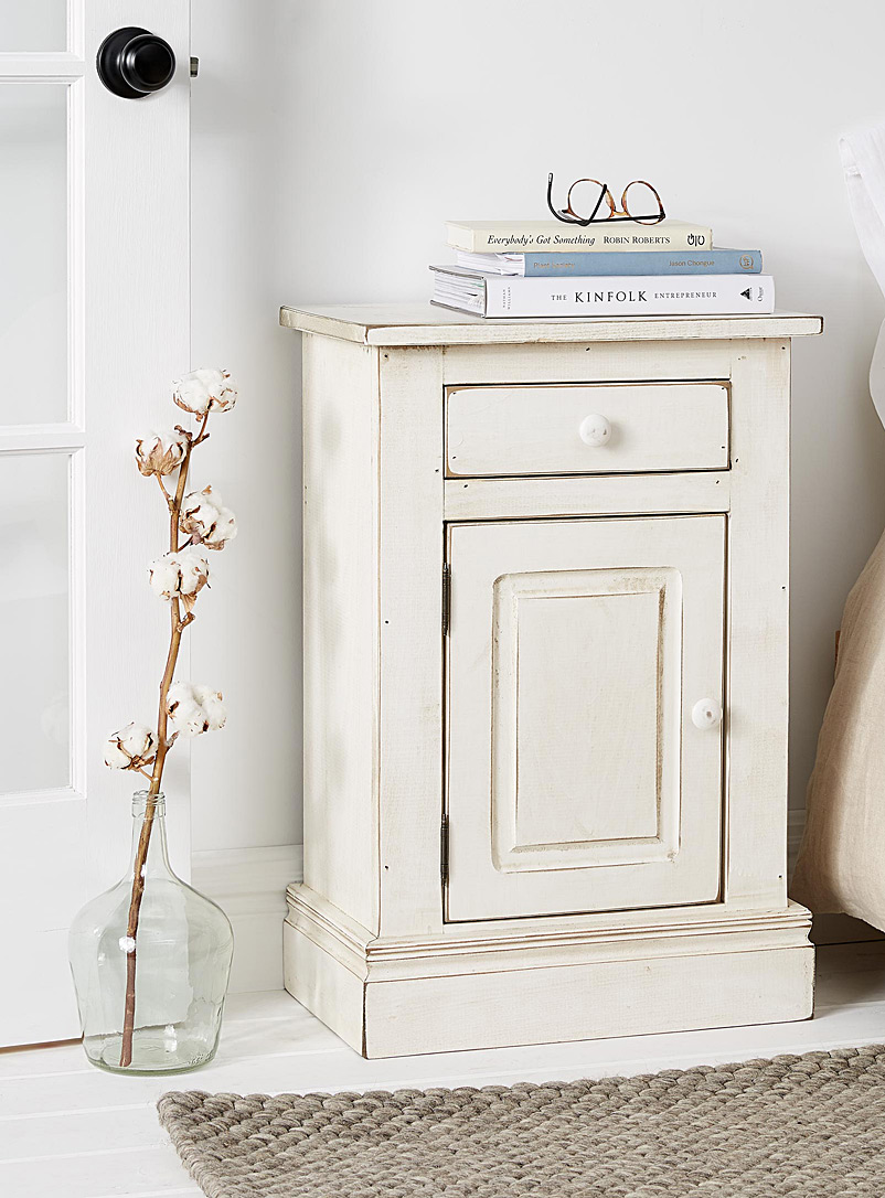 Springwater Woodcraft White Rural nightstand