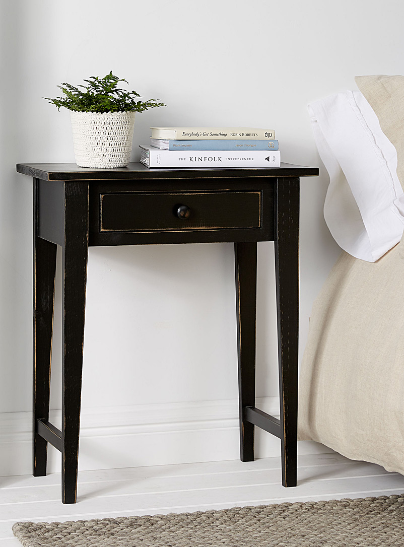 Vintage black Hall accent table