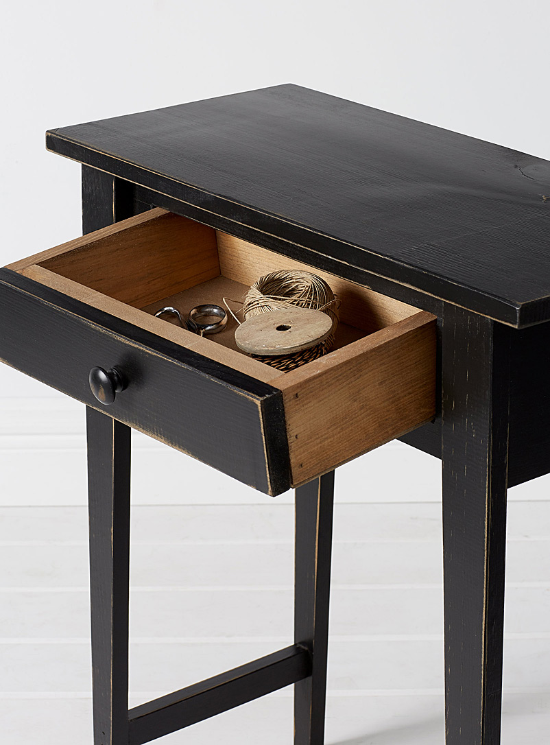 La table d'appoint Hall noir vintage - Tables de salon et consoles - Noir