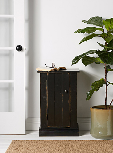 Vintage black Haggerty accent table