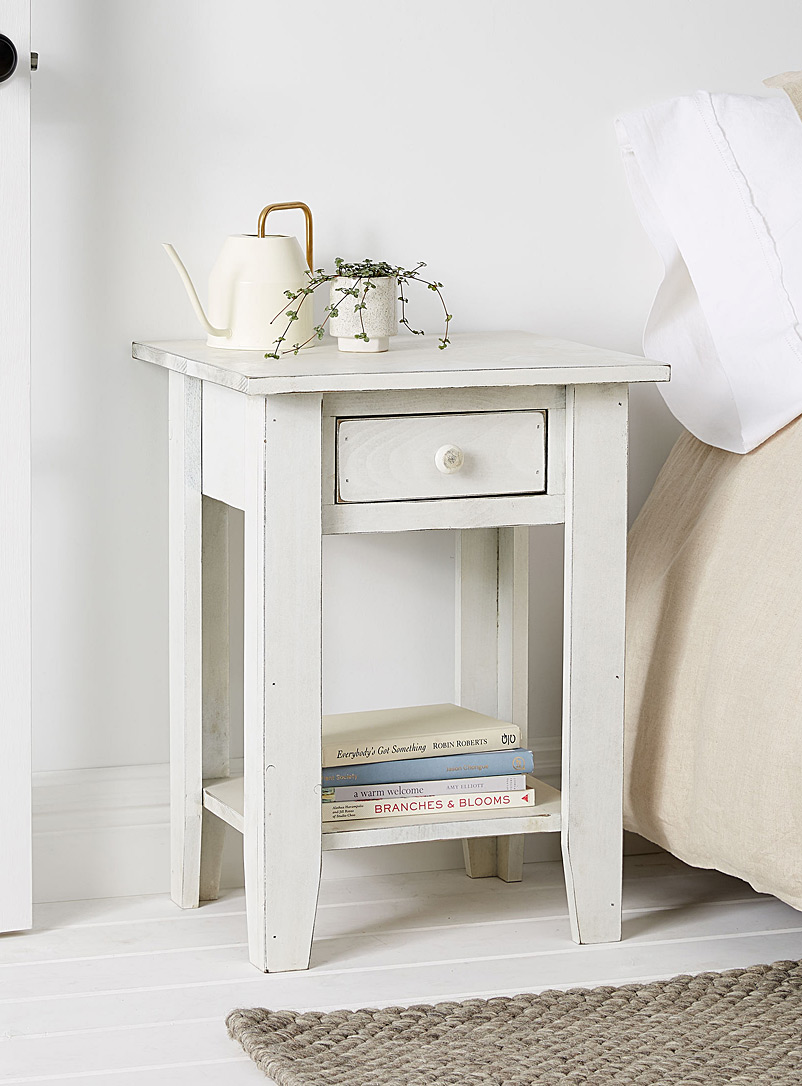 Springwater Woodcraft White Vintage white small accent table