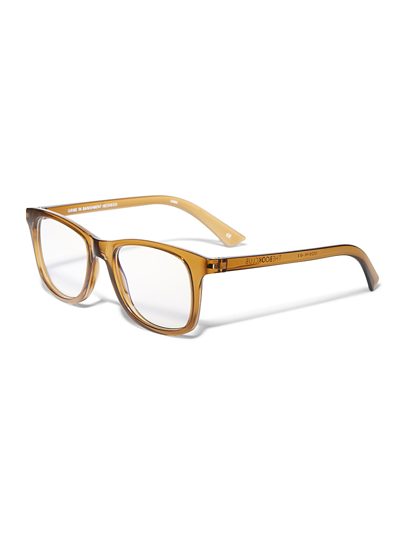 Grime In Banishment rectangle reading glasses - Reading Glasses - Light Brown
