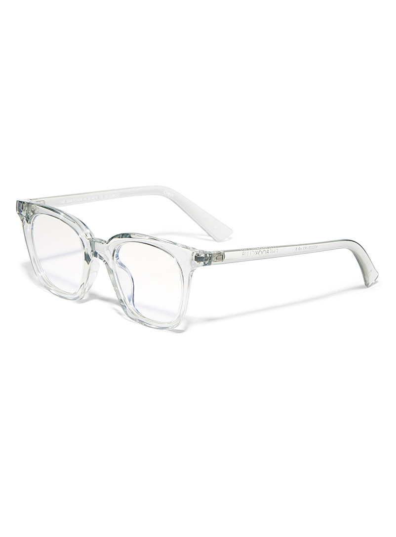 The Book Club Assorted Snatcher in Black Tie square reading glasses for women