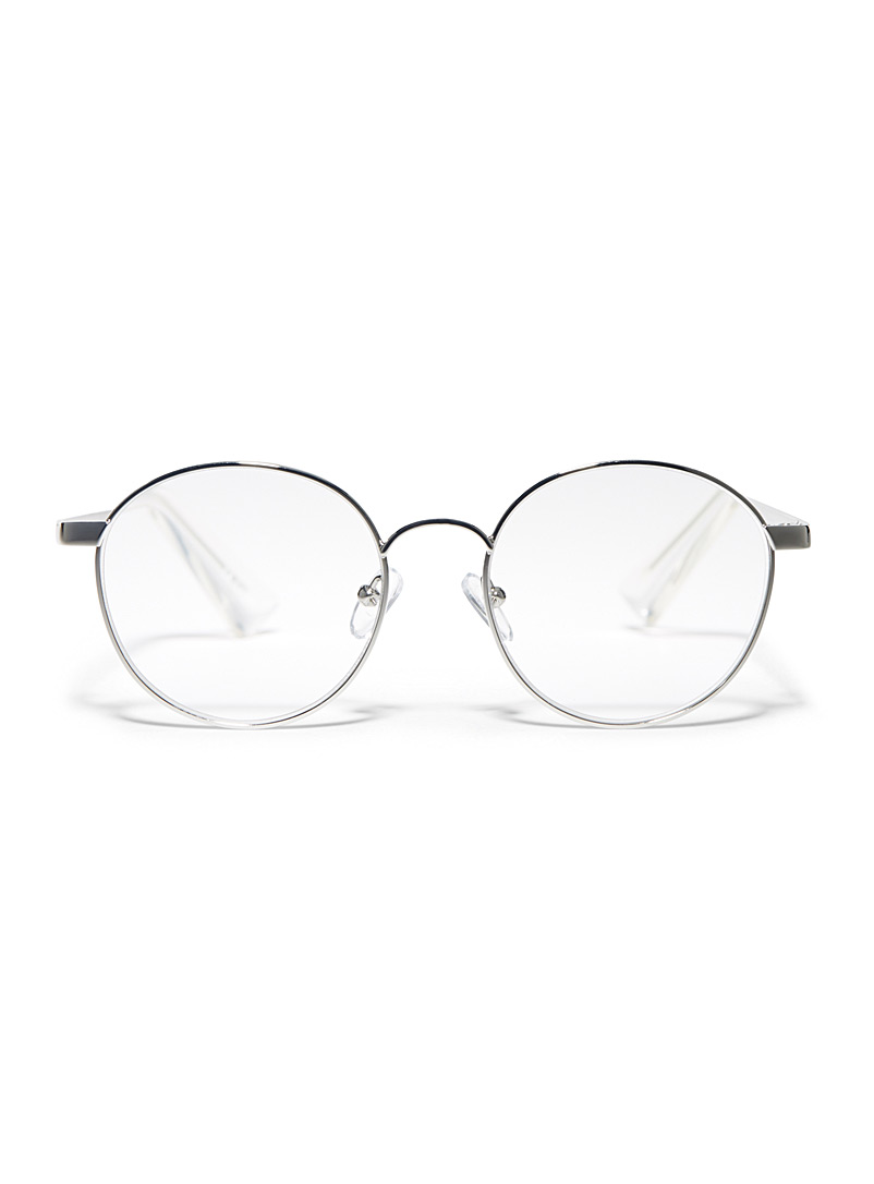 Bothering Sights round glasses - Reading Glasses - Silver
