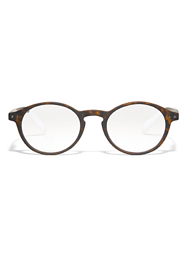 Matte round reading glasses