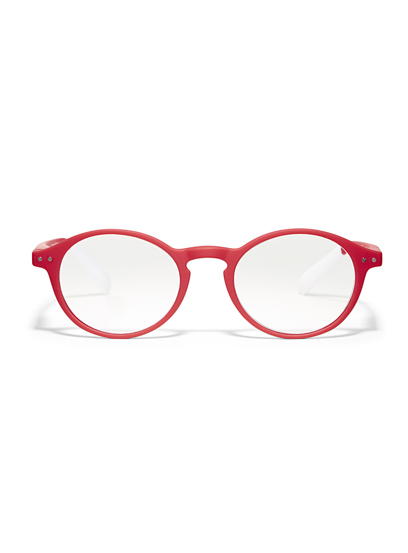 AFTERNOON x PANTONE Red Matte round reading glasses for women