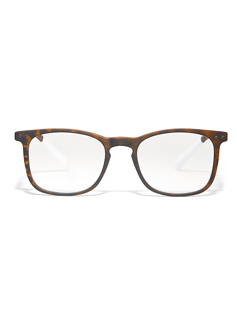 AFTERNOON x PANTONE Brown Matte square reading glasses for women
