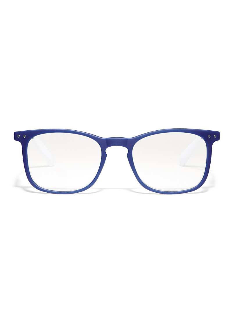 Matte square reading glasses - Reading Glasses - Sapphire Blue