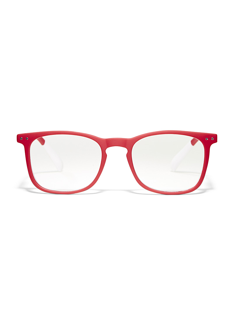 AFTERNOON x PANTONE Red Matte square reading glasses for women