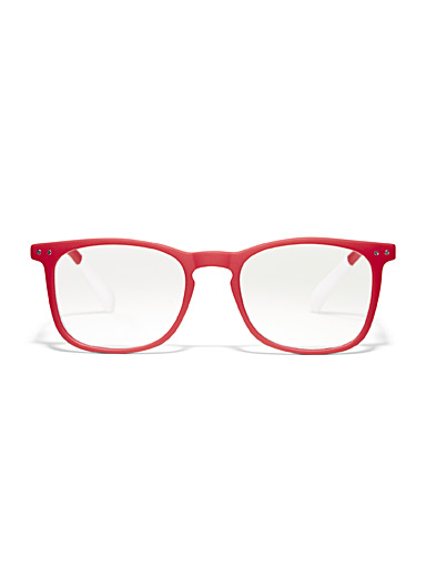 Matte square reading glasses